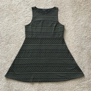 Dark Green and Black Party Dress